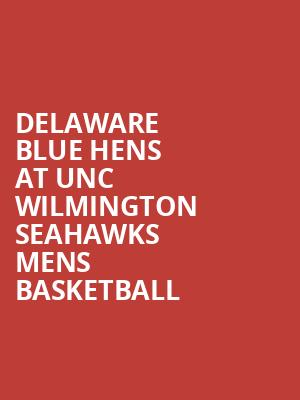 Delaware Blue Hens at UNC Wilmington Seahawks Mens Basketball at Trask Coliseum
