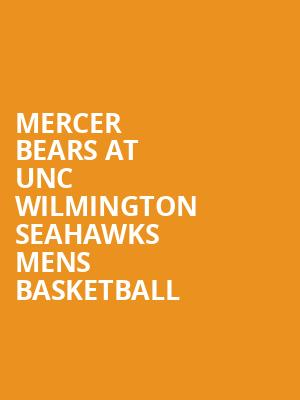 Mercer Bears at UNC Wilmington Seahawks Mens Basketball at Trask Coliseum