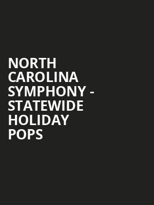 North Carolina Symphony - Statewide Holiday Pops at Cape Fear Community College's Wilson Center